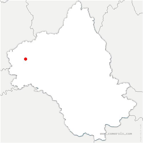 carte de localisation de Maleville