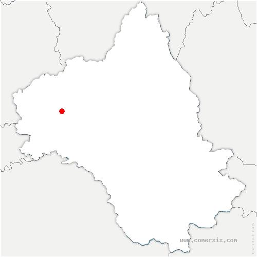 carte de localisation de Privezac