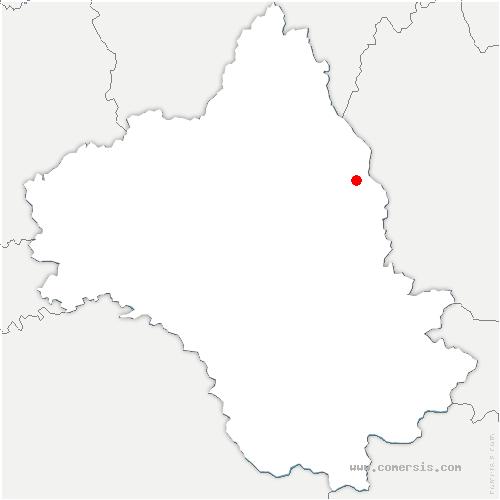 carte de localisation de Saint-Geniez-d'Olt-et-d'Aubrac