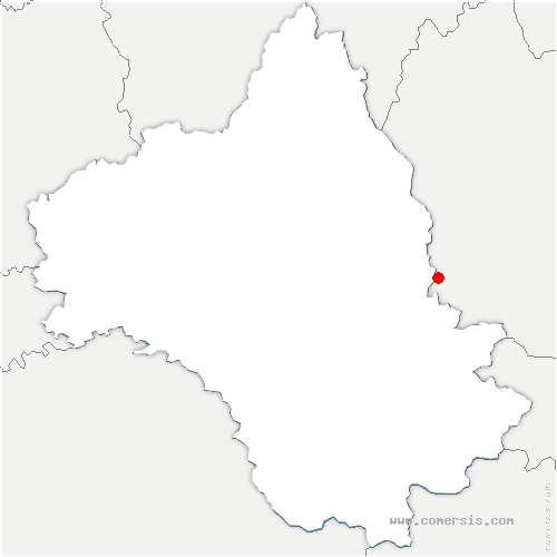 carte de localisation de Sévérac-d'Aveyron