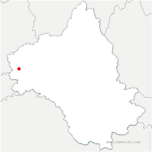 carte de localisation de Toulonjac