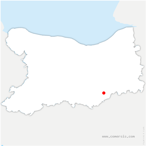 carte de localisation de Barou-en-Auge