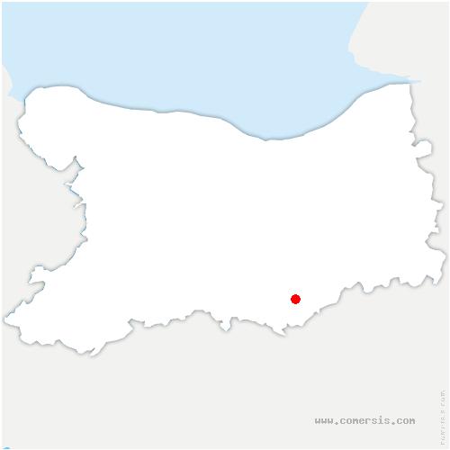 carte de localisation de Beaumais