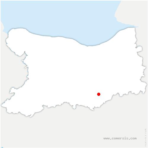 carte de localisation de Bernières-d'Ailly