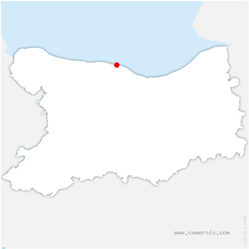 carte de localisation de Bernières-sur-Mer