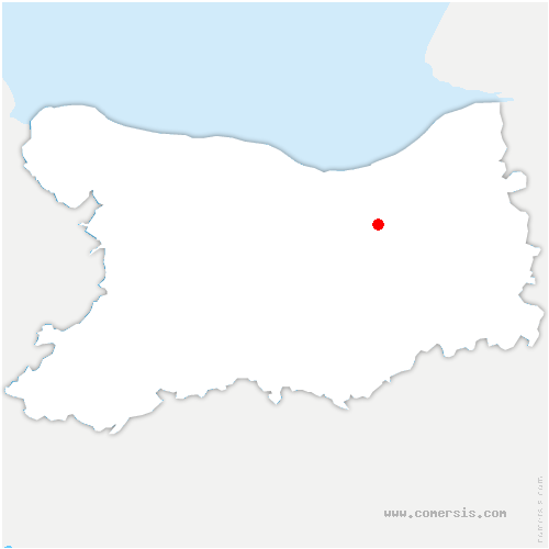 carte de localisation de Beuvron-en-Auge