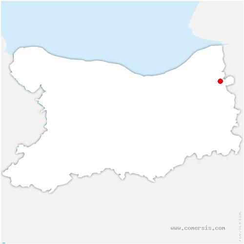 carte de localisation de Bonneville-la-Louvet
