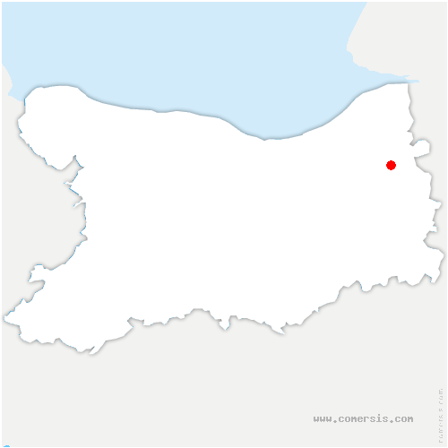 carte de localisation de Breuil-en-Auge