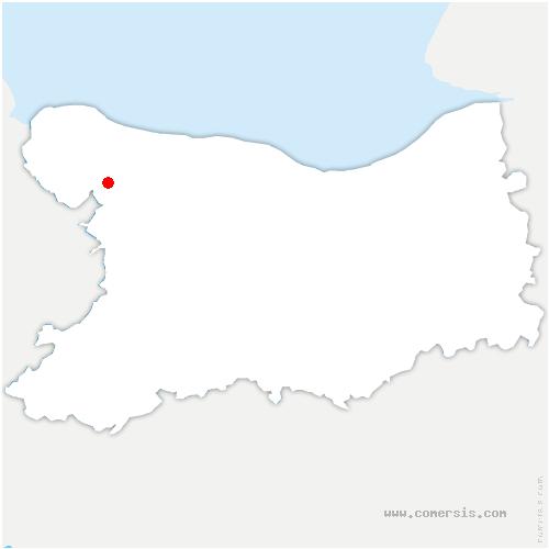 carte de localisation de Breuil-en-Bessin