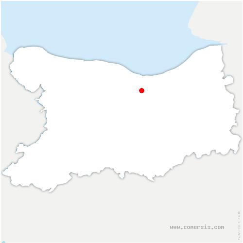 carte de localisation de Bréville-les-Monts