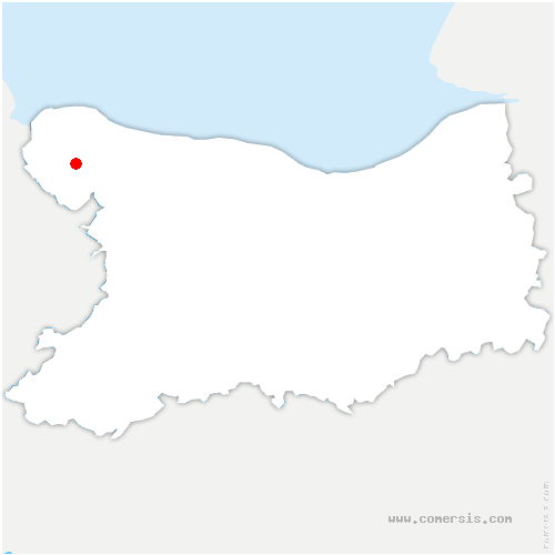 carte de localisation de Bricqueville