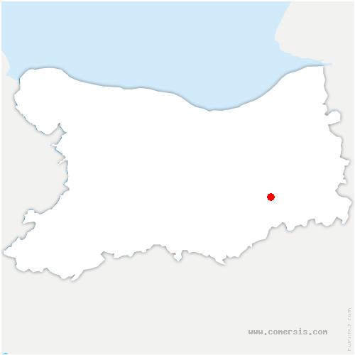 carte de localisation de Castillon-en-Auge