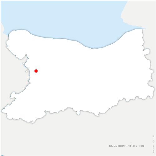 carte de localisation de Caumont-sur-Aure