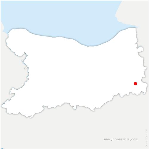 carte de localisation de Cernay