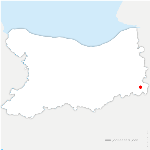 carte de localisation de Cerqueux