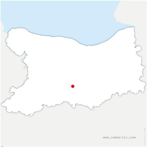 carte de localisation de Cesny-les-Sources