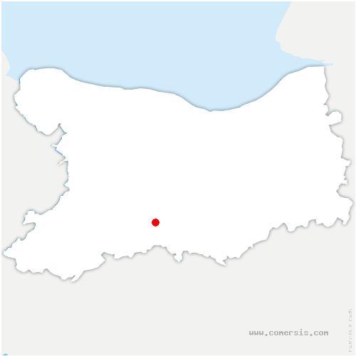 carte de localisation de Combray