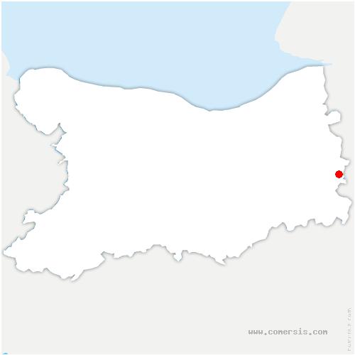 carte de localisation de Cordebugle