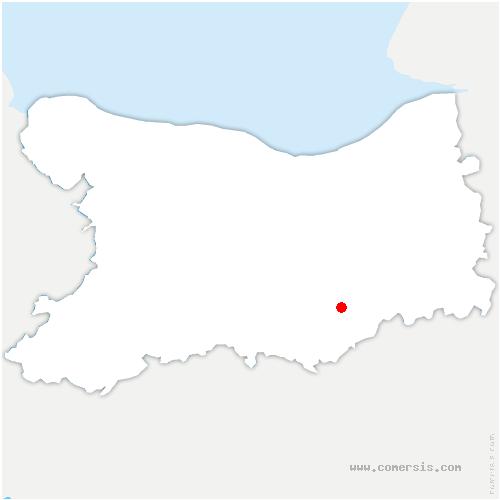carte de localisation de Courcy