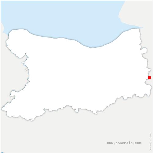 carte de localisation de Courtonne-les-Deux-Églises