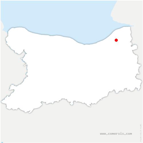 carte de localisation de Englesqueville-en-Auge