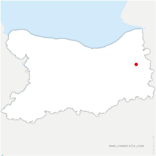 carte de localisation de Fauguernon