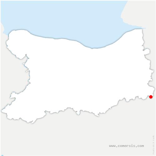 carte de localisation de Folletière-Abenon