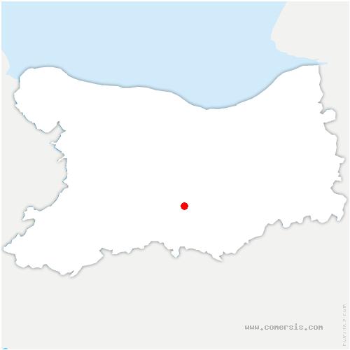 carte de localisation de Fontaine-le-Pin