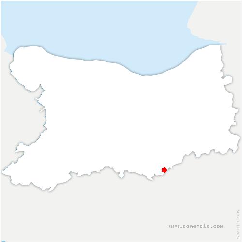 carte de localisation de Fourches