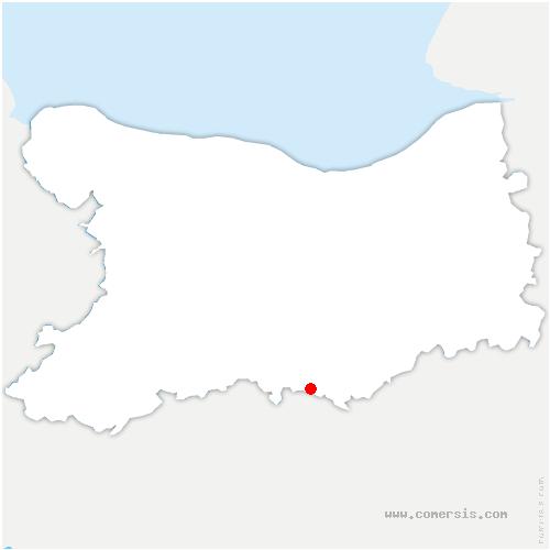 carte de localisation de Fourneaux-le-Val