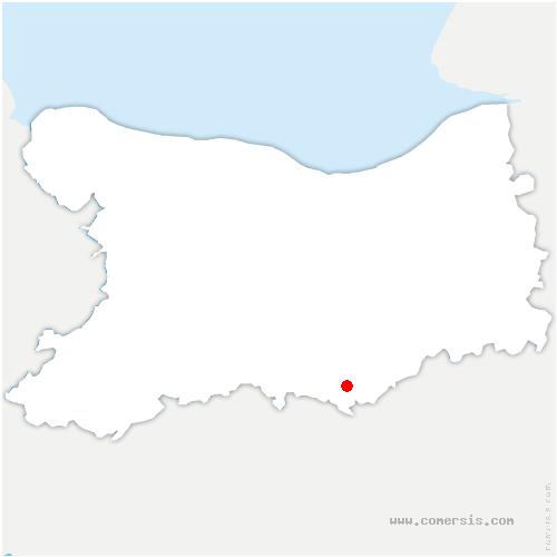 carte de localisation de Fresné-la-Mère