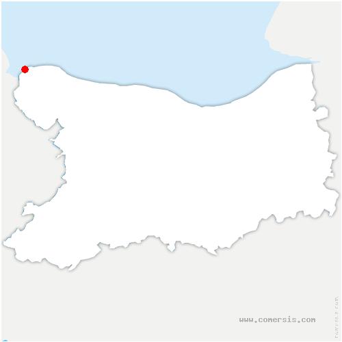 carte de localisation de Grandcamp-Maisy