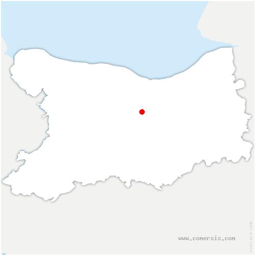 carte de localisation de Grentheville