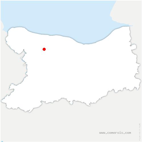 carte de localisation de Guéron