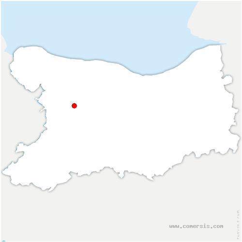 carte de localisation de Hottot-les-Bagues