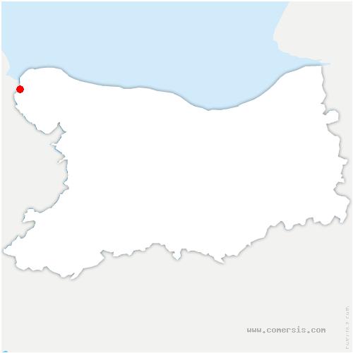 carte de localisation de Isigny-sur-Mer