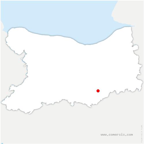 carte de localisation de Louvagny