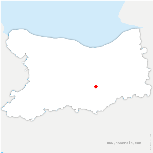 carte de localisation de Maizières