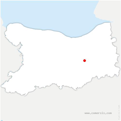 carte de localisation de Mézidon Vallée d'Auge