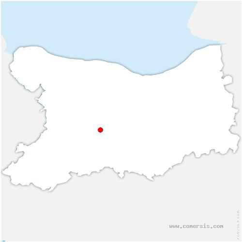 carte de localisation de Montillières-sur-Orne