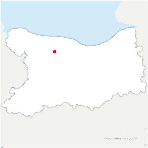 carte de localisation de Moulins en Bessin