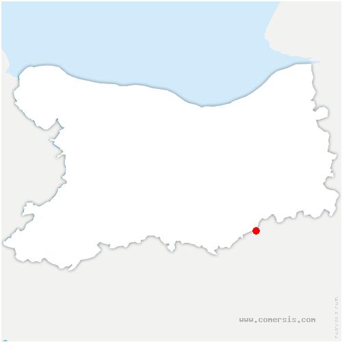 carte de localisation de Moutiers-en-Auge