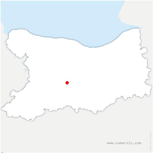 carte de localisation de Moutiers-en-Cinglais