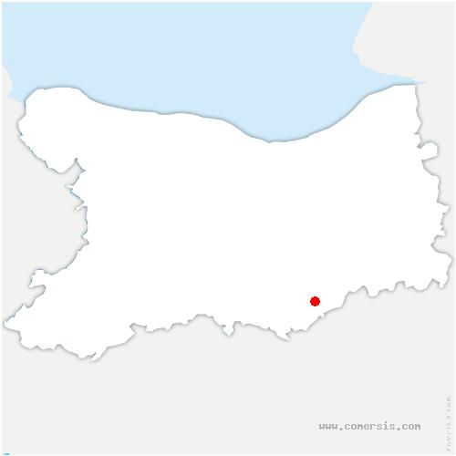 carte de localisation de Norrey-en-Auge