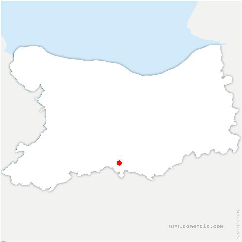 carte de localisation de Pierrefitte-en-Cinglais