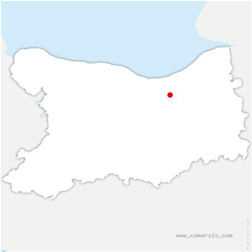 carte de localisation de Putot-en-Auge