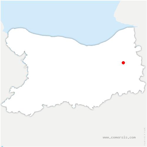 carte de localisation de Saint-Désir