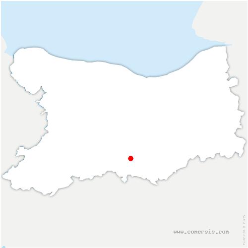 carte de localisation de Saint-Germain-Langot