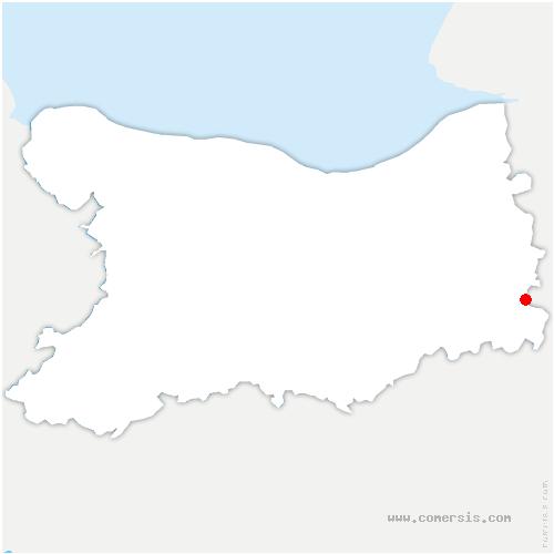 carte de localisation de Saint-Martin-de-Bienfaite-la-Cressonnière