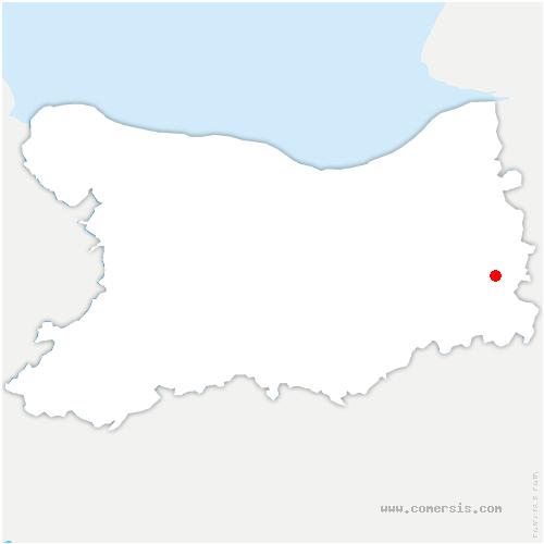 carte de localisation de Saint-Martin-de-Mailloc